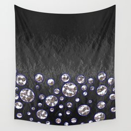 Asteroid Belt of Silver Moons Wall Tapestry