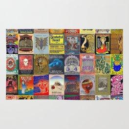 Deadhead Concert Posters Rug