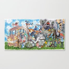 Ghibli Compilation Canvas Print
