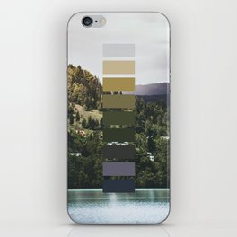 The sea, the land, the mountains iPhone Skin