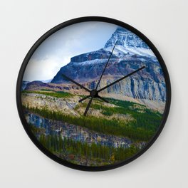 Highest Mountain in the Canadian Rockies; Mount Robson Wall Clock