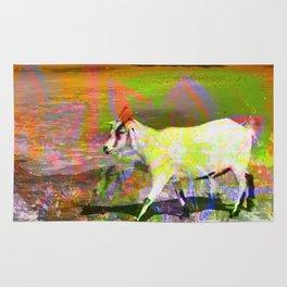 goat flower Rug