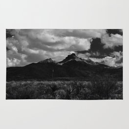 Dramatic Clouds over Mountain Range in Big Bend Rug
