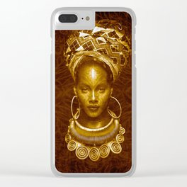 Afrofuturist style Clear iPhone Case