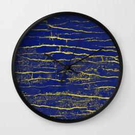 Stone Blue Yellow Wall Clock