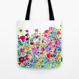 Flower Fields Pink Tote Bag