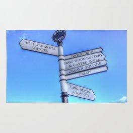 Edinburgh Castle Directions Post Rug