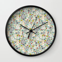 Cute Bunny Rabbits Wall Clock