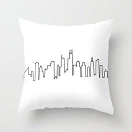 Chicago, Illinois City Skyline Throw Pillow