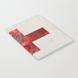 Medic - Abstract Medical Cross In Red And Black Notebook