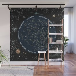 Come with me to see the stars Wall Mural