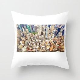 New York Buildings Throw Pillow