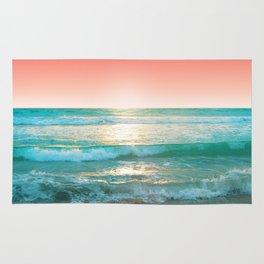 Aqua and Coral, 1 Rug
