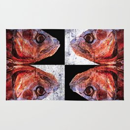 Dead Fish Face Abstract Four Mummy Rug