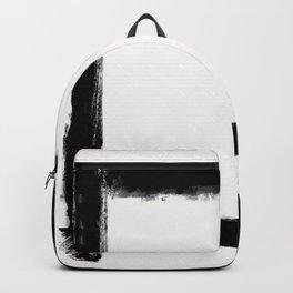 Square Strokes Black on White Backpack