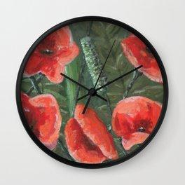 Italian Poppies Wall Clock