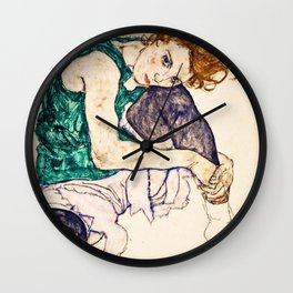 Egon Schiele - Seated Woman With Legs Drawn Up Wall Clock