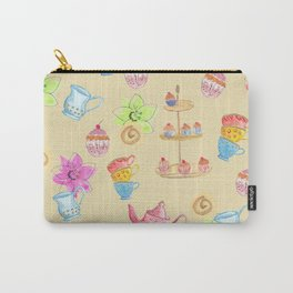 Tea party yellow Carry-All Pouch