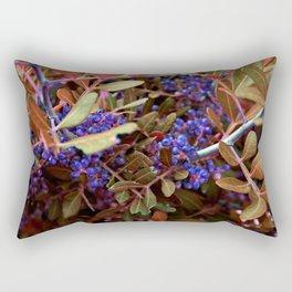 Alien landscape autumn berry surreal plants Rectangular Pillow