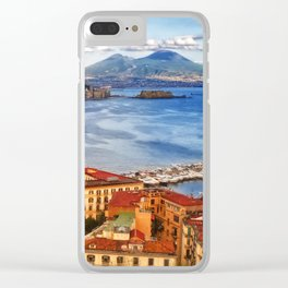 Italy, the gulf of Naples seen from the Posillipo hill Clear iPhone Case