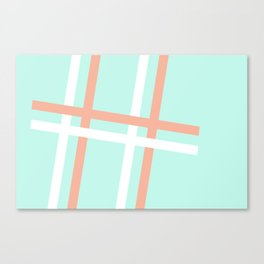 Turquoise & Coral (4) Canvas Print