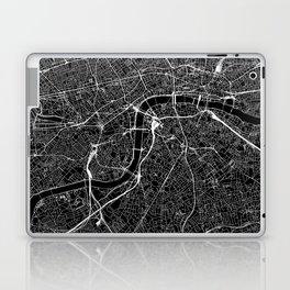 London Black Map Laptop & iPad Skin