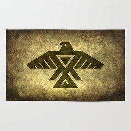 Symbol of the Anishinaabe, Ojibwe (Chippewa) on  parchment Rug