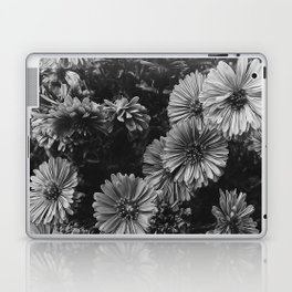 FLOWERS - FLORAL - BLACK AND WHITE Laptop & iPad Skin