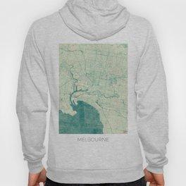Melbourne Map Blue Vintage Hoody