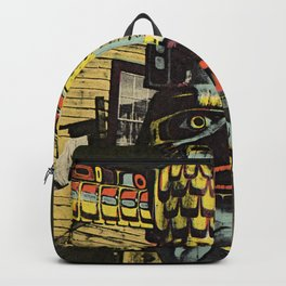 An Alaskan Totem Pole Backpack
