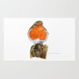 English Robin by Teresa Thompson Rug