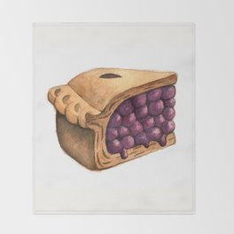 Blueberry Pie Slice Throw Blanket