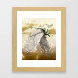 Icarus Myth Framed Art Print