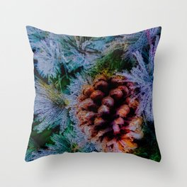 Vibrant Evergreen Christmas Throw Pillow