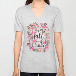 My Y'all is Authentic – Vintage Palette Unisex V-Neck