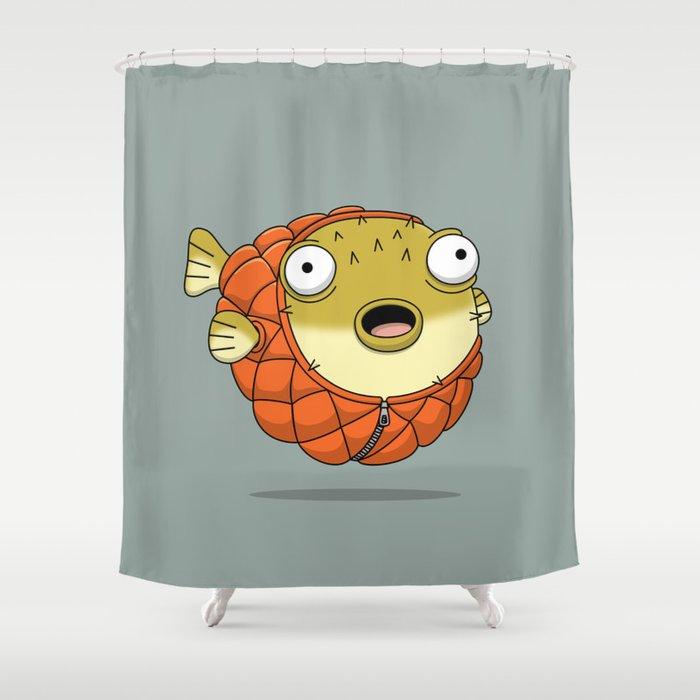 Puffer fish Shower Curtain