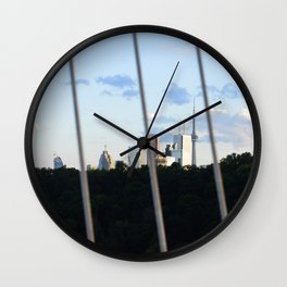 Toronto Series - Fenced Wall Clock