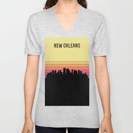 New Orleans Skyline Unisex V-Neck