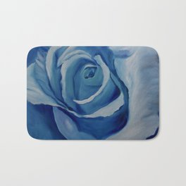 Turquoise Rose Bath Mat