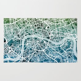 London England Street Map Rug