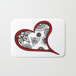 Tangled heart Bath Mat