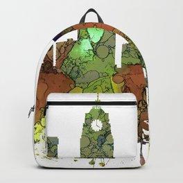 Lansing, Michigan Skyline - Safari Buff Backpack
