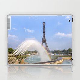PARIS Eiffel Tower with rainbow Laptop & iPad Skin
