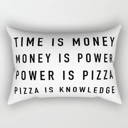 Pizza is Knowledge Rectangular Pillow
