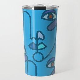 Multi Faced Sea Glass Travel Mug