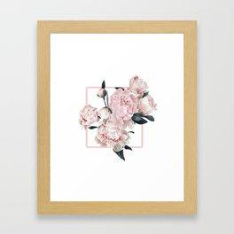 Peony Burst Framed Art Print