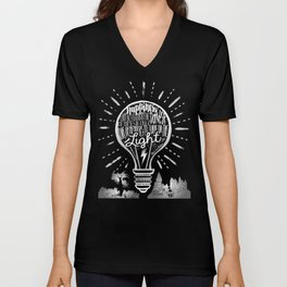 Happiness Can Be Found in the Darkest of Times Unisex V-Neck