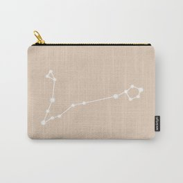 Pisces Zodiac Constellation - Warm Neutral Carry-All Pouch
