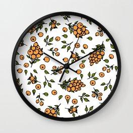 sea buckthorn Wall Clock