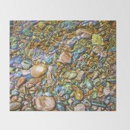 Baptism River Rocks Throw Blanket
